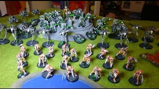 Necron Flayed One Decurion Vs Blood Angels Archangels Sanguine Wing Formation