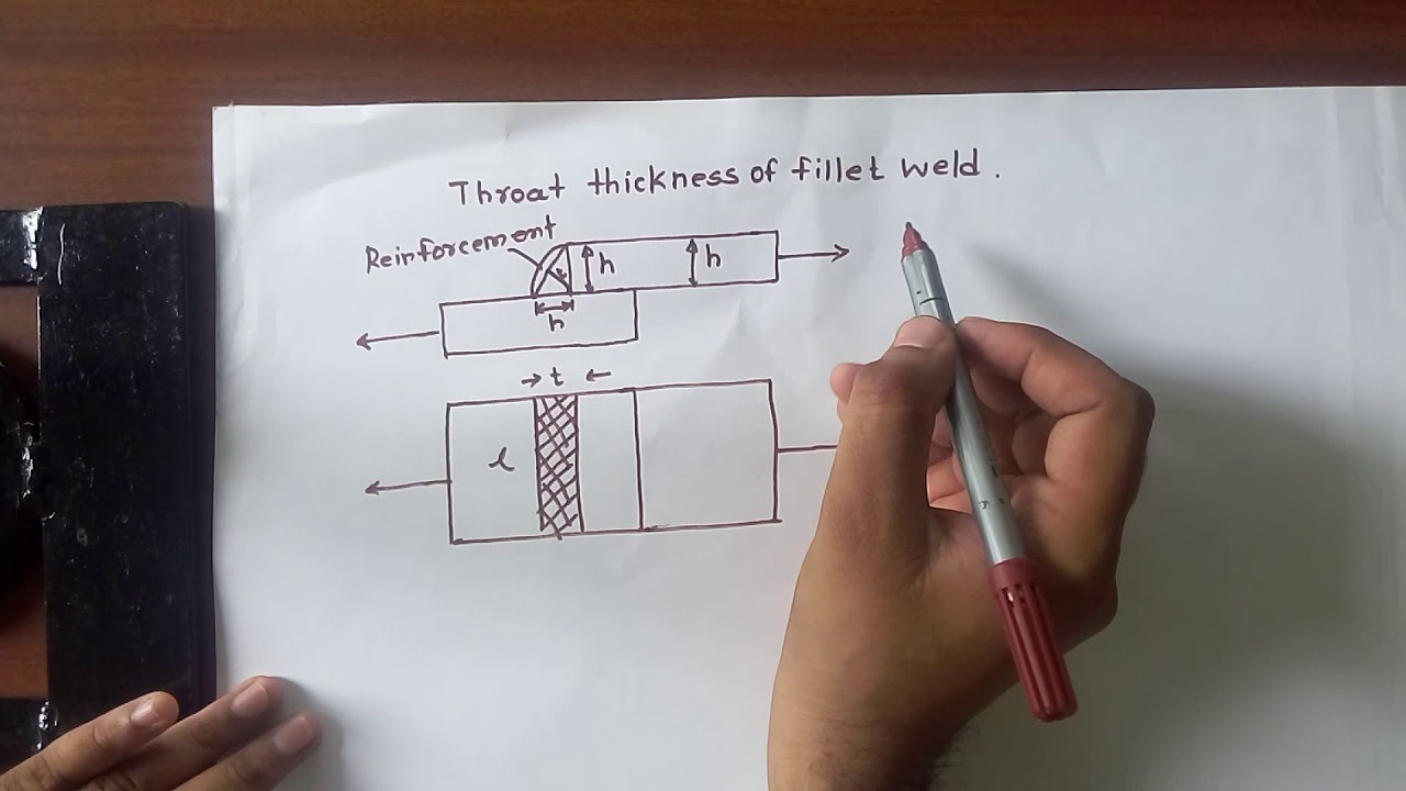 Gate Questions On Throat Thickness Of Fillet Weld