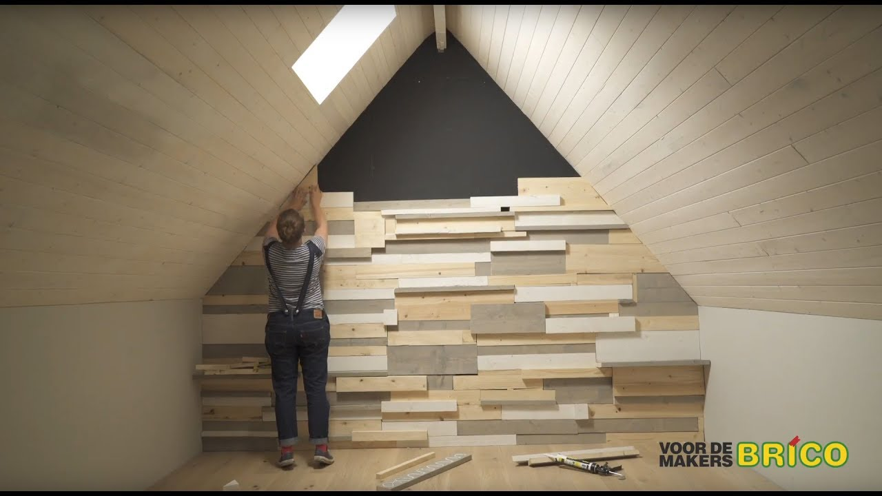 Wandbekleding van steigerhout  YouTube