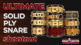 The Best Solid Ply Snare Drums