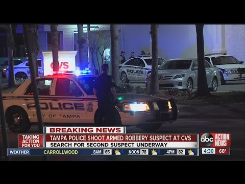 Tampa Police shoot armed robbery suspect at Hyde Park CVS