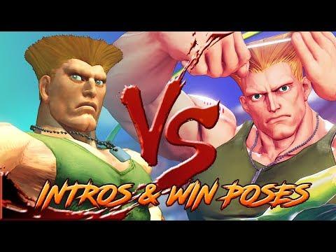 SFIV Vs SFV - Character INTROS & WIN POSES Comparison!