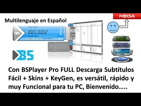 Con BsPlayer Pro Descarga Subtítulos Fácil + KeyGen + Paquete De Skins