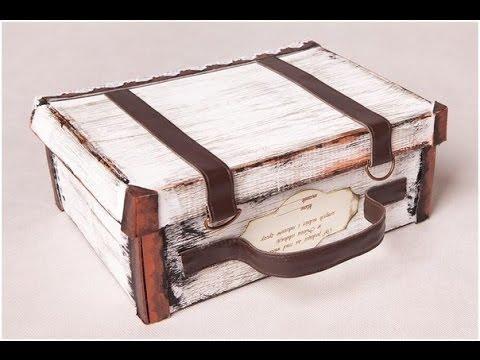 Декупаж старого чемодана своими руками мастер класс салфетками 10