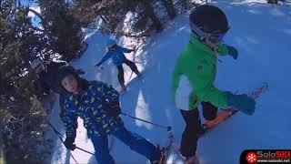 Enseñamos a esquiar a dos niñas en 48 horas en Les Angles