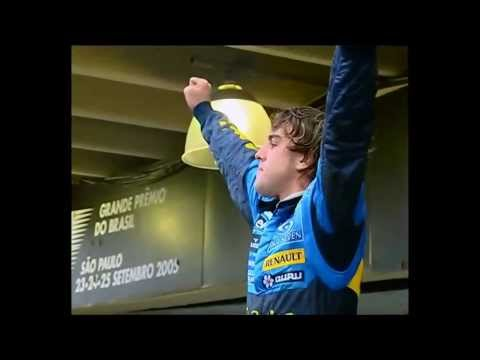 Alonso celebrates F1 2005 title