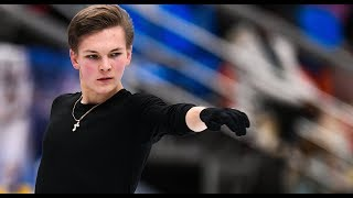 Михаил Коляда • тренировка • ISU Grand Prix of Figure Skating • Rostelecom Cup Russia • 15/11/18