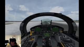 Aerofly FS2 on HTC Vive VR - F-18 in Las Vegas
