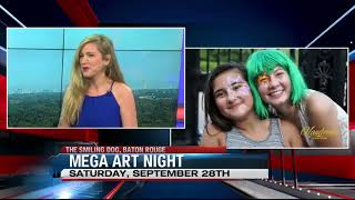 Vaudeville Entertainment's Mega Art Night on WVLA Channel 33 News!