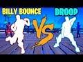 FORTNITE BILLY BOUNCE EMOTE VS DROOP EMOTE!!!