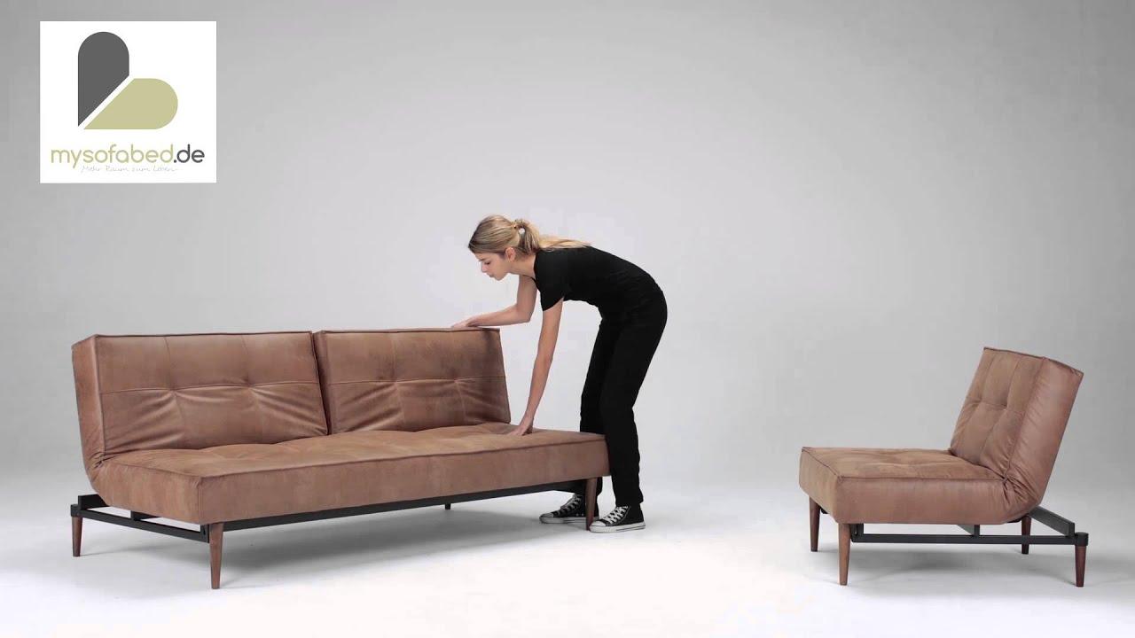 Schlafsofa designermöbel  SPLITBACK Schlafsofa von Innovation - Dunkle Holzfüße - Faunal ...