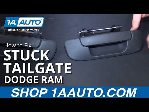 How to Fix Install Change Stuck Tailgate 2002-08 Dodge Ram BUY QUALITY AUTO PARTS AT 1AAUTO.COM