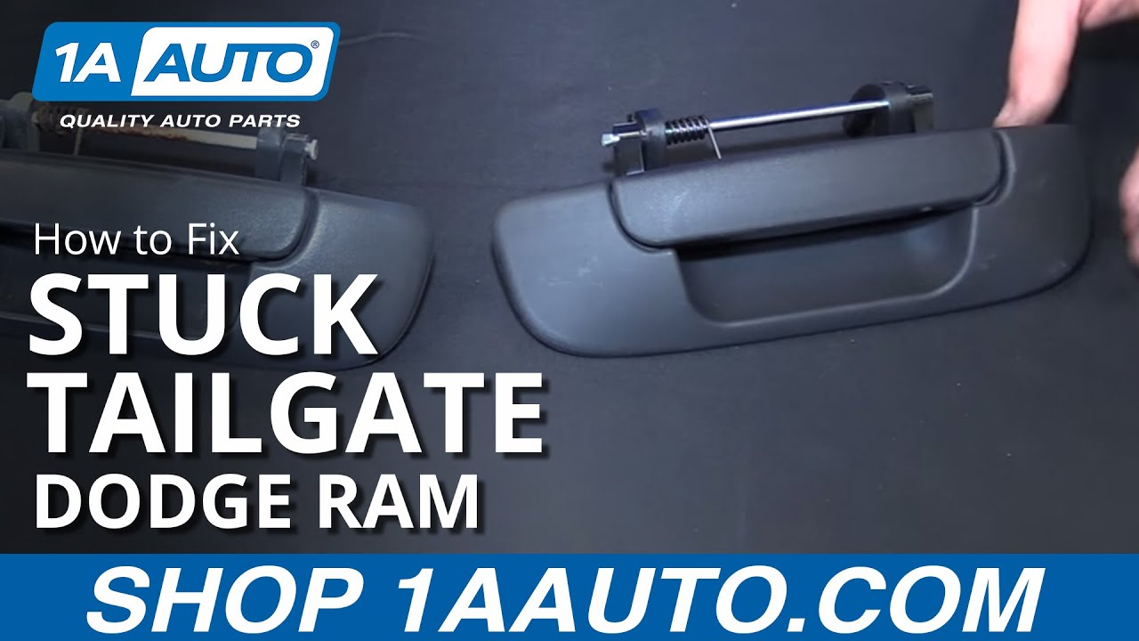 How to fix install change stuck tailgate 2002 08 dodge ram buy quality auto parts at 1aauto com youtube