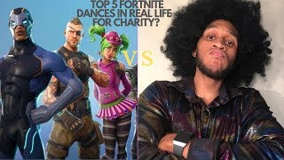 My Top 5 Fortnite Dances in Real Life... For Charity?