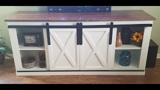 TV Stand with Sliding Barn Doors