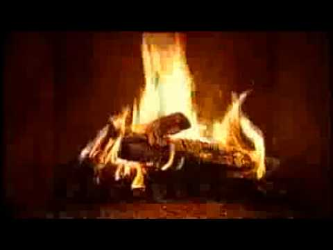Fireplace on a rainy day HD 1280 x 720