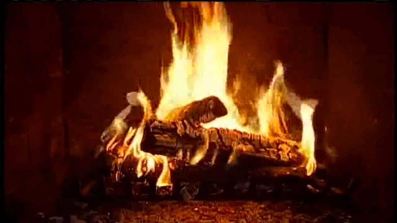 Fireplace on a rainy day HD 1280 x 720 - YouTube