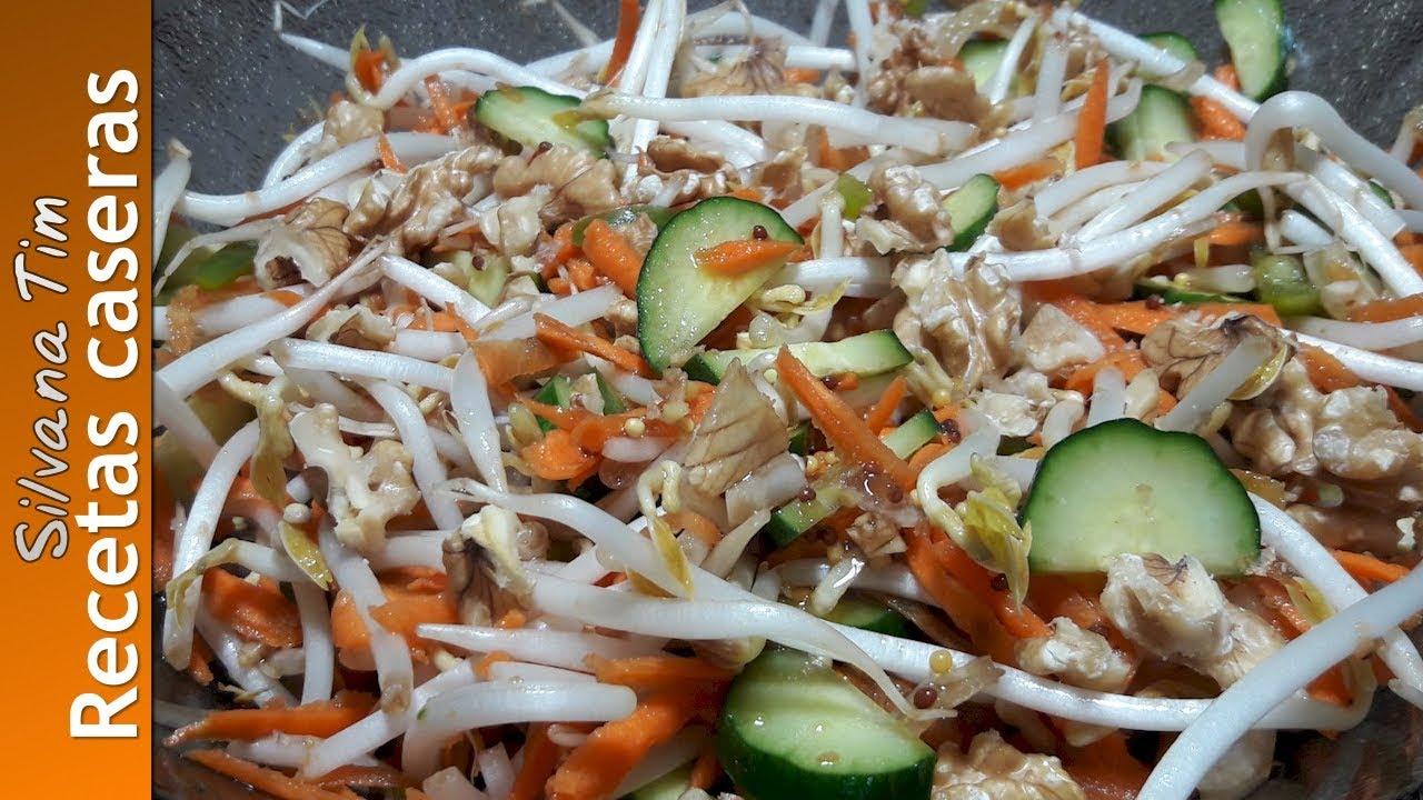 Como preparar brotes de soja en ensaladas