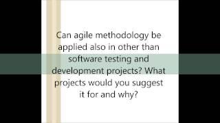 Agile development interview questions