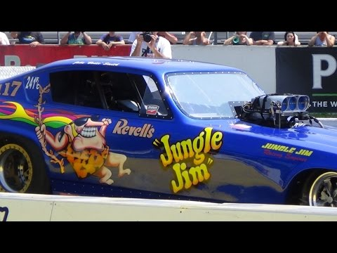 Jungle Jims Tribute Funny Cars Raceway Parks 50th 7-25-15