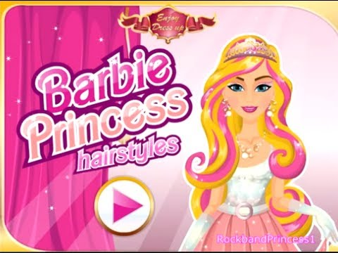 Barbie Games To Play Barbie Princess Hairstyles Makeover