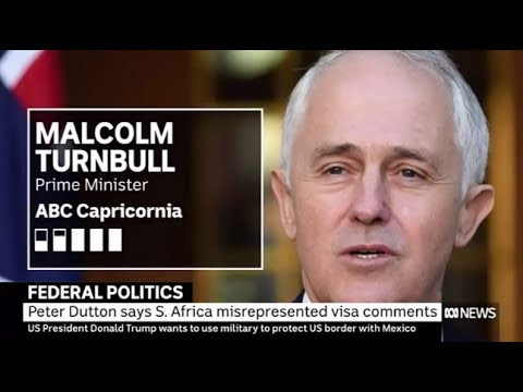 Malcolm Turnbull sidesteps Peter Dutton incident with South Africa