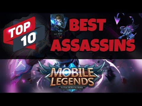 Top 10 Best Assassin Heroes In Mobile Legends Bang Bang | Strongest Assassins thumbnail