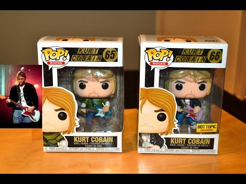 Nirvana KURT COBAIN FUNKO POP ROCKS figures! HOT TOPIC EXCLUSIVE! Unboxing Review!
