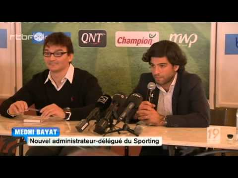 Fabien Debecq, new president of football club RCSC Sporting de Charleroi