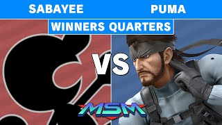 MSM Online 9 - TR | Sabayee (Game & Watch) Vs Puma (Snake) Winners Quarters - Smash Ultimate