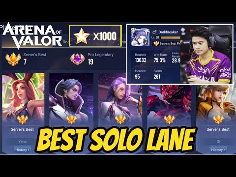 Best Solo Lane (EU) - 1000 Star Ranked Gameplay - Arena of Valor