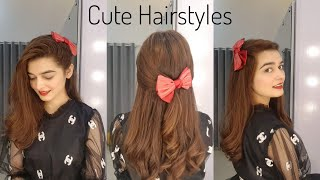 Cute Hairstyles For Girls || 3 Quick & Easy Hair Tutorials