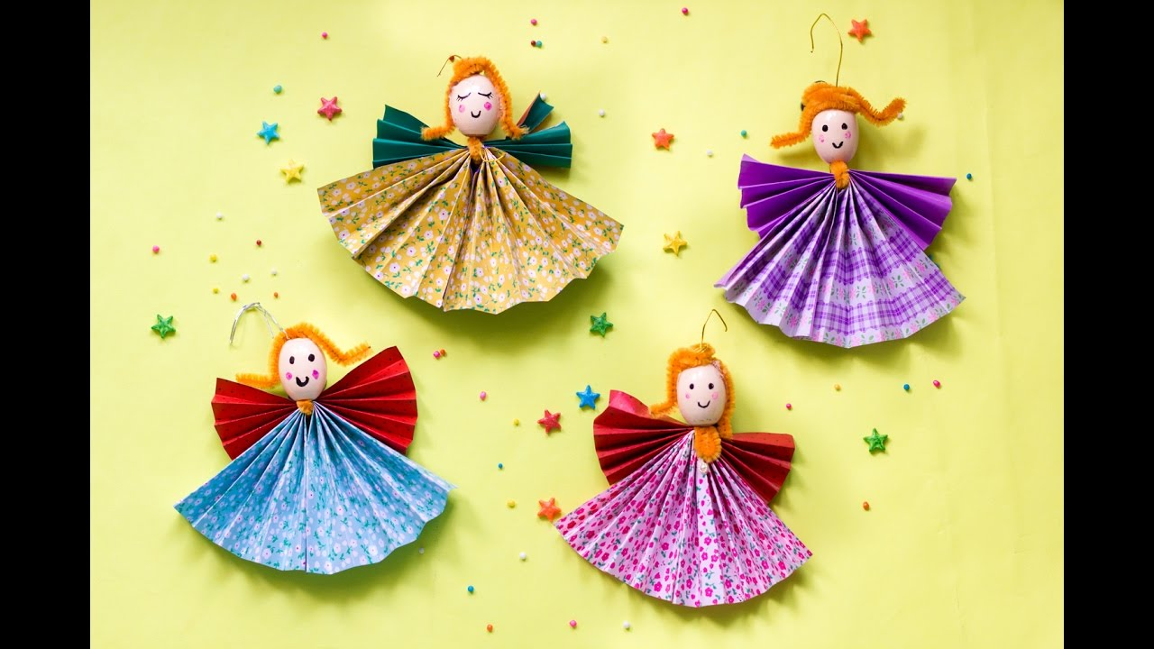 diy paper angel christmas craft christmas ornaments for home tree decorations artsycraftsymom