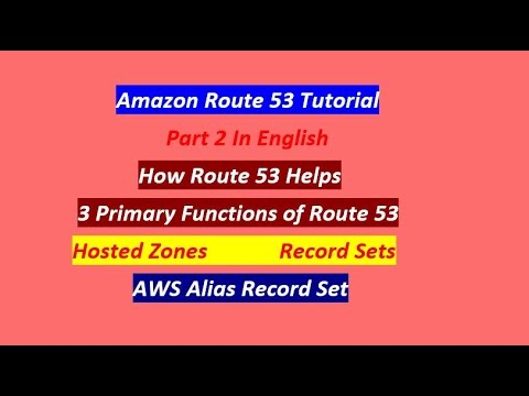 Part 2 | AWS Route 53 Tutorial For Beginners (English) | Amazon Route 53‎