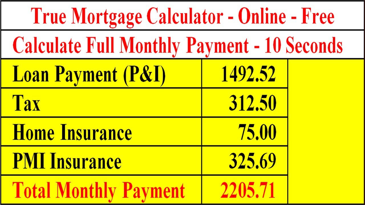 Mortgage Calculator - Full Payment - YouTube