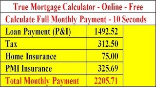 Mortgage Calculator   Full Payment