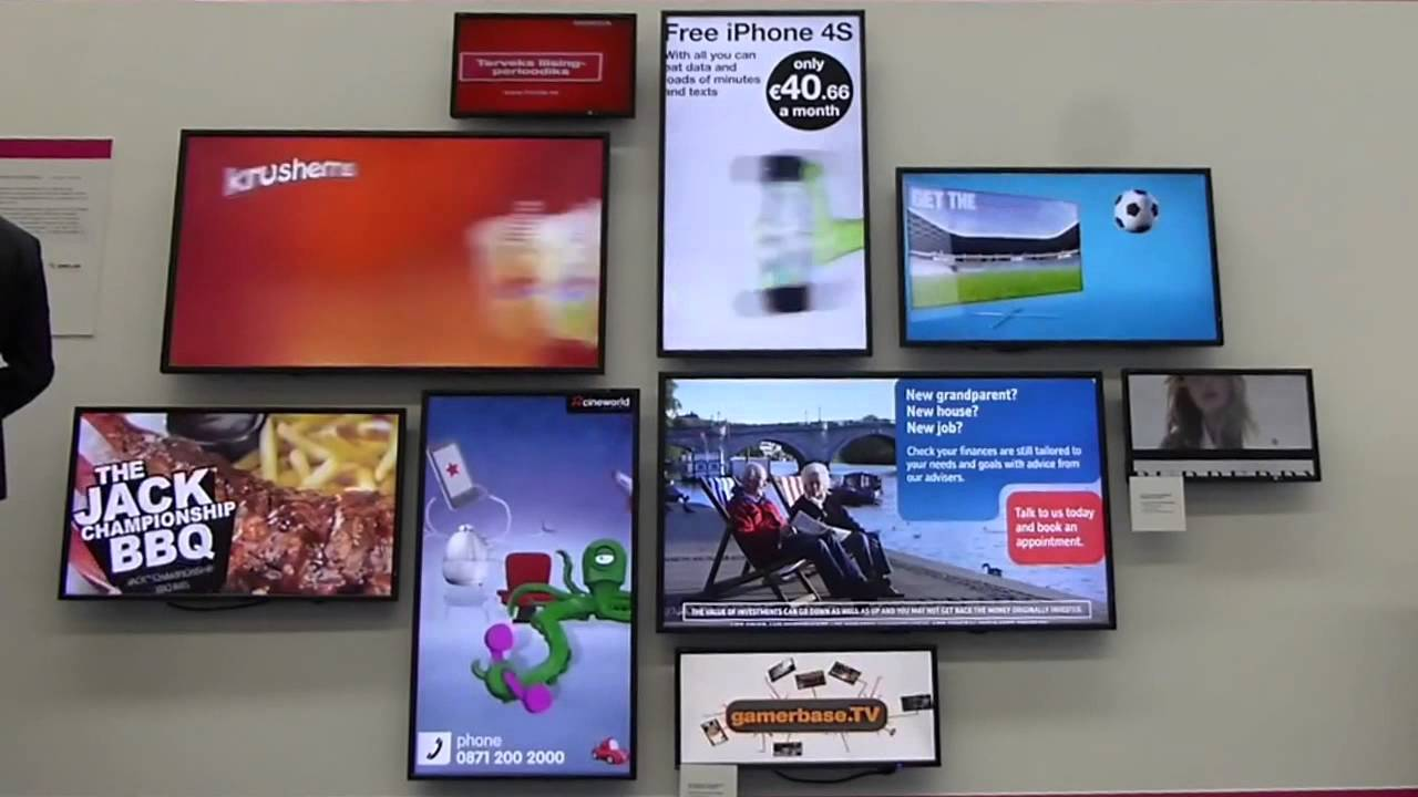 9 screen feature video wall NEC showcase onemedia ONELAN datapath