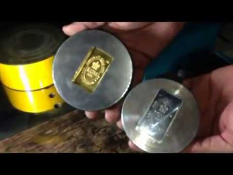 HYDRAULIC GOLD & SILVER COIN AND BAR MAKING MACHINE