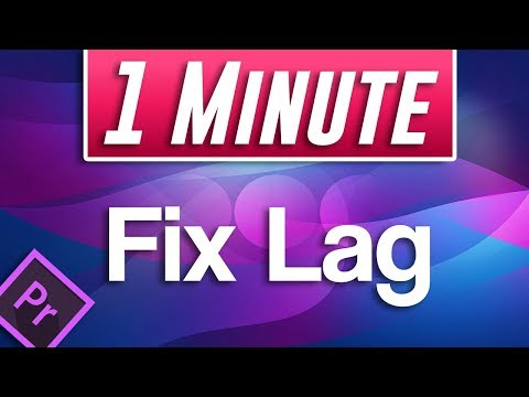 Premiere Pro CC : How to Fix Video Playback Lag While Editing Timeline