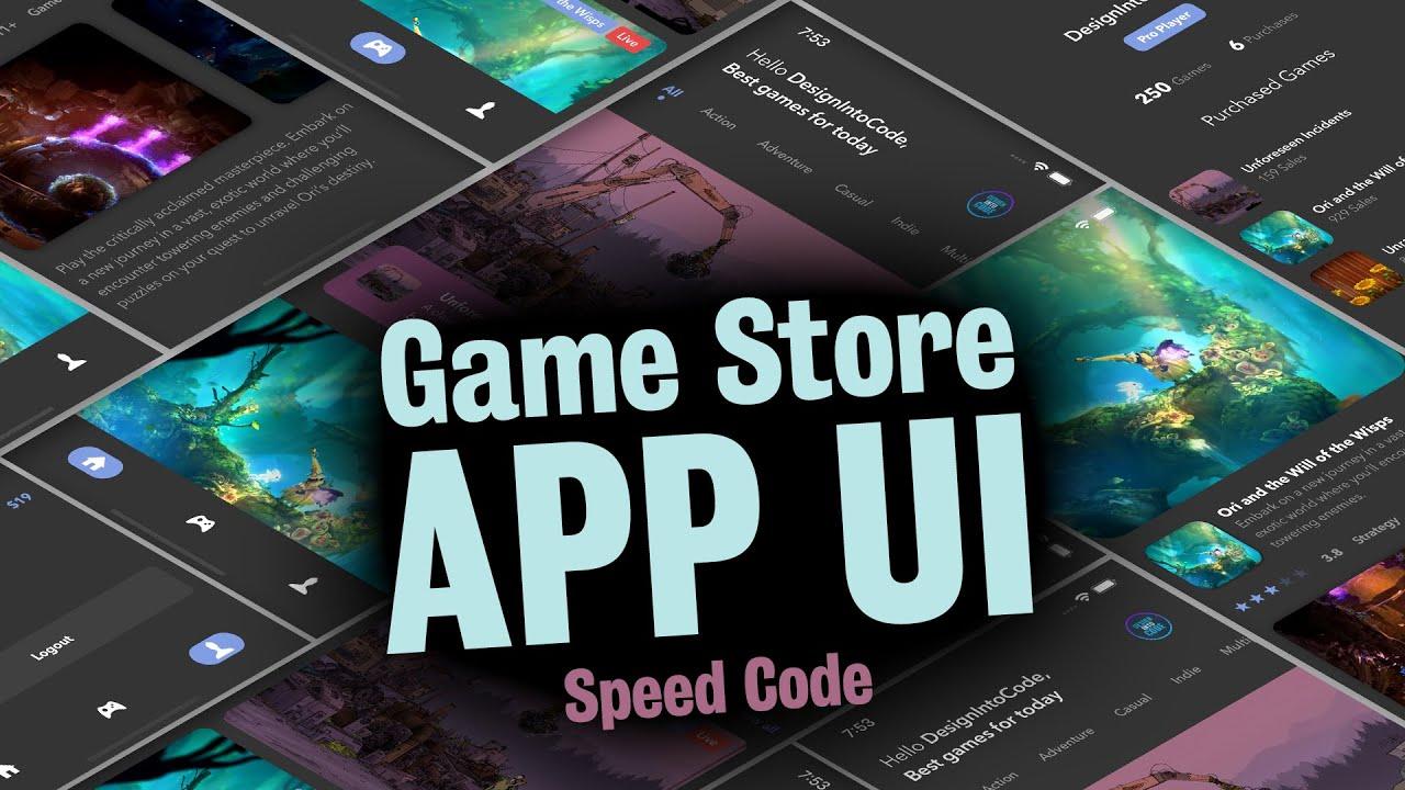 Game Store App - React Native UI - Speed Code