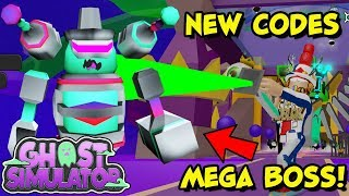 NEW MEGA BOSS BATTLE & CODES FOR FREE GODLY PET & GEMS in Ghost Simulator (Roblox) - Update 18