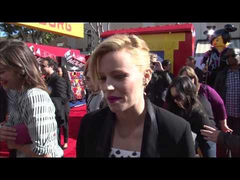 """The Lego Movie: Elizabeth Banks """"Wyldstyle"""" Movie Premiere Interview"""