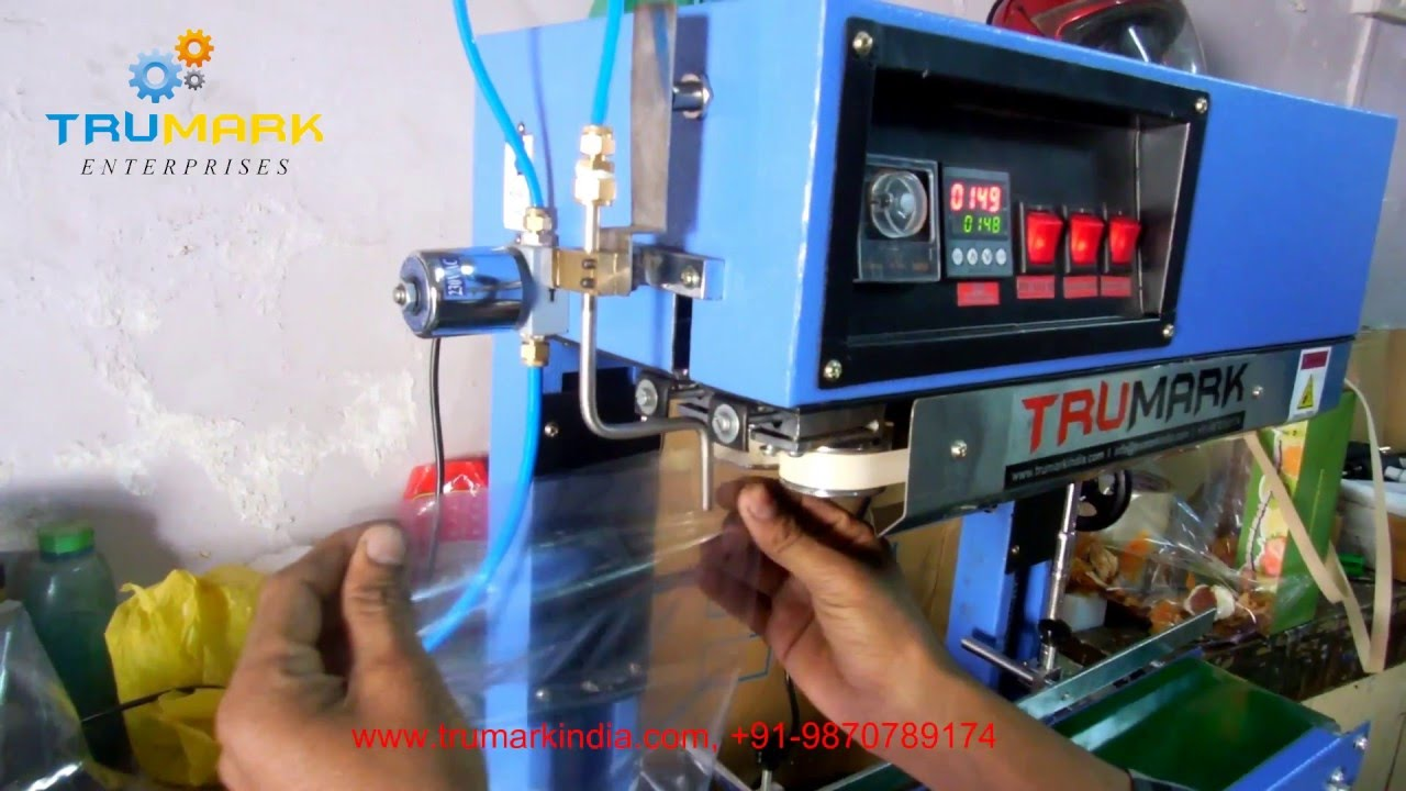 band sealing machine with gas filling system