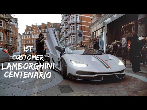 Billionaire  Arab Prince buys $2.5 million Lamborghini Centenario Supercar  in London
