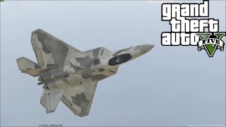 GTA 5 PC SP #1 | USAF F-22 Raptor Mod Featuring Carpet Bomb Mod With Openable Weapon Bay