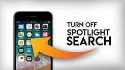 How to Turn Off Spotlight Search on iPhone