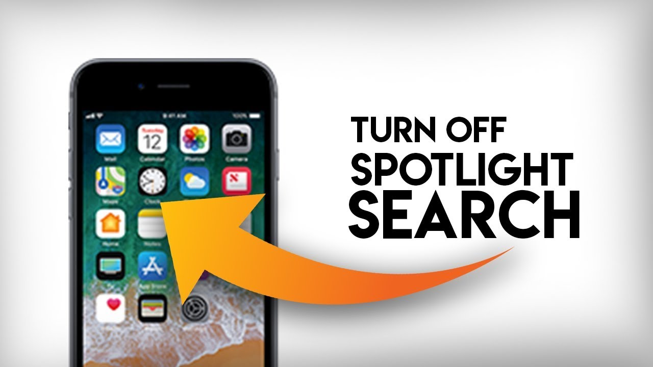 How To Turn Off Spotlight Search On Iphone Youtube