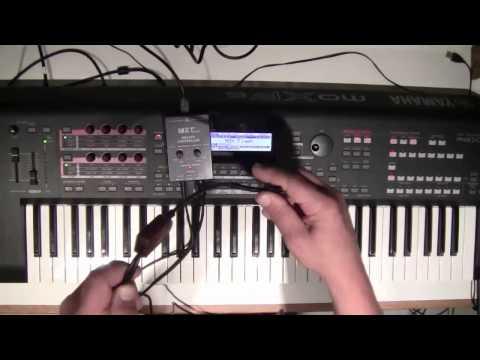 MRT Audio Breath Controller and Yamaha MOXF6 Keyboard