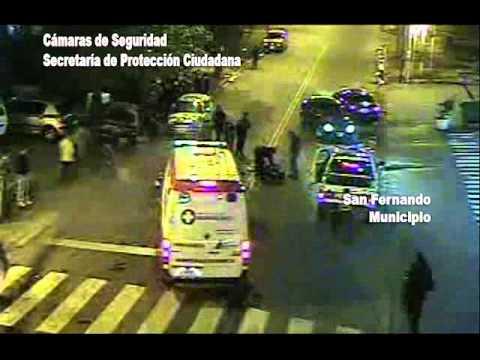 Accidente de una moto y un auto es San Fernando