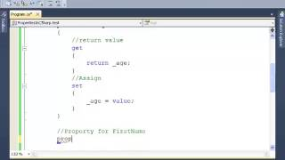C#: How to Create Properties - Tutorial 4